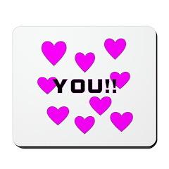 Love You! Mousepad