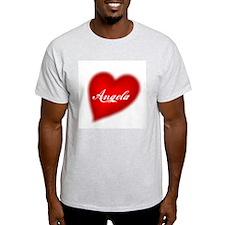 I love Angela products Ash Grey T-Shirt