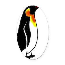 Penguin2 Oval Car Magnet