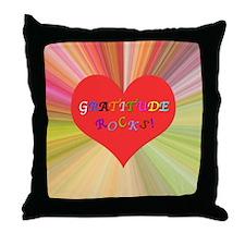 Gratitude Rocks 3 Throw Pillow