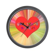 Gratitude Rocks 3 Wall Clock