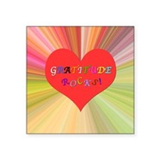 "Gratitude Rocks 3 Square Sticker 3"" x 3"""