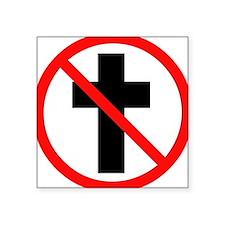 No Christianity Rectangle Sticker