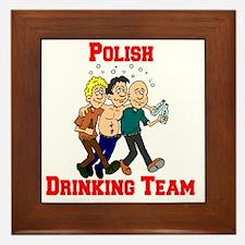 Polish Drinking Team Cartoon Shirt Framed Tile