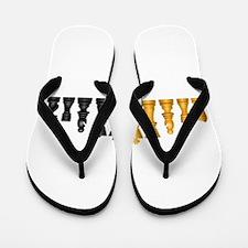 Chess Pieces Flip Flops