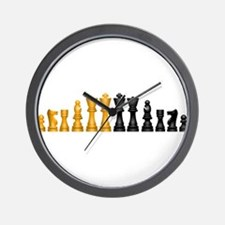 Chess Pieces Wall Clock