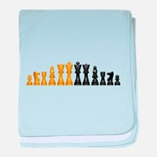 Chess Pieces baby blanket