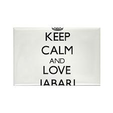 Keep Calm and Love Jabari Magnets