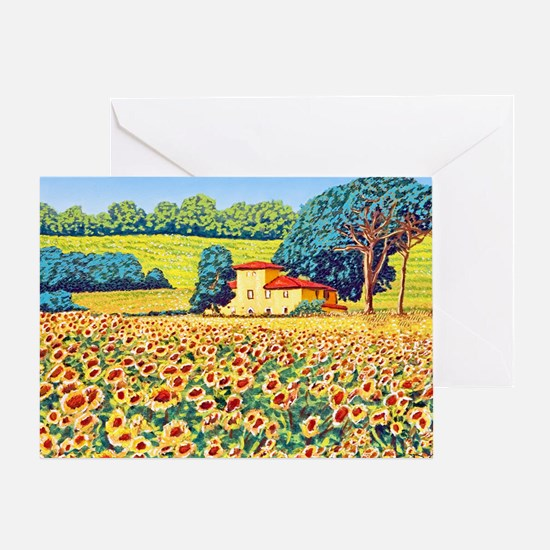 Faces in the Field ap Greeting Card