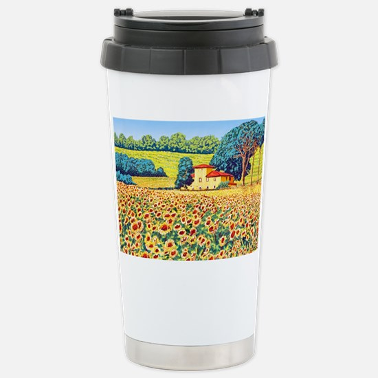 Faces in the Field ap Stainless Steel Travel Mug