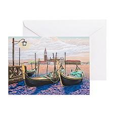 Twilight in Venice ap Greeting Card