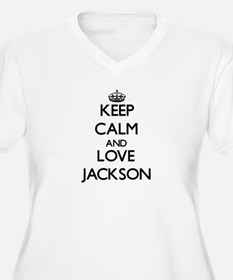 Keep Calm and Love Jackson Plus Size T-Shirt