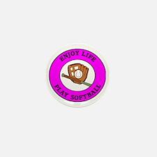 softball4 Mini Button