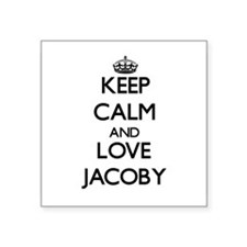 Keep Calm and Love Jacoby Sticker