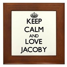 Keep Calm and Love Jacoby Framed Tile