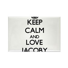 Keep Calm and Love Jacoby Magnets