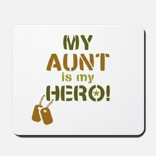Dog Tag Hero Aunt Mousepad