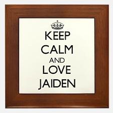 Keep Calm and Love Jaiden Framed Tile
