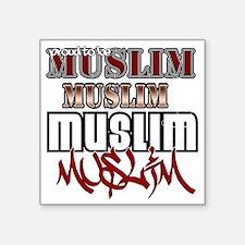 """2-Muslim Square Sticker 3"""" x 3"""""""