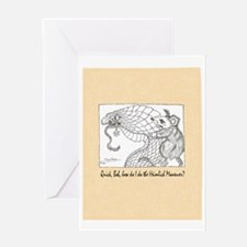 mistral Heimlich cartoon Greeting Card