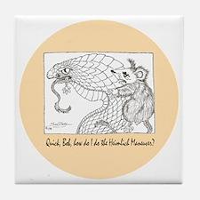 mistral Heimlich button Tile Coaster