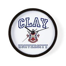CLAY University Wall Clock