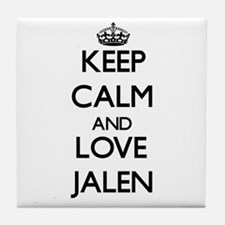 Keep Calm and Love Jalen Tile Coaster
