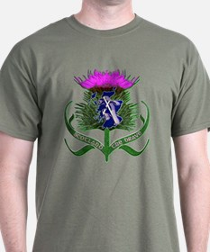 Scottish Runner And Thistle The Brave T-Shirt