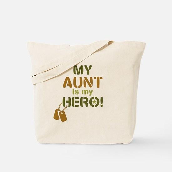 Dog Tag Hero Aunt Tote Bag