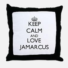 Keep Calm and Love Jamarcus Throw Pillow