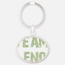 teamlenogreen Oval Keychain