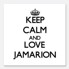 "Keep Calm and Love Jamarion Square Car Magnet 3"" x"