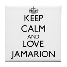 Keep Calm and Love Jamarion Tile Coaster