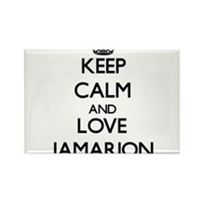 Keep Calm and Love Jamarion Magnets