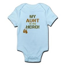 Dog Tag Hero Aunt Infant Bodysuit