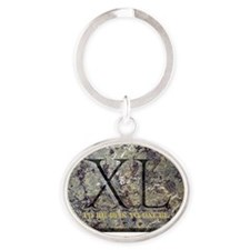 40EXCEL Oval Keychain