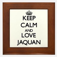 Keep Calm and Love Jaquan Framed Tile
