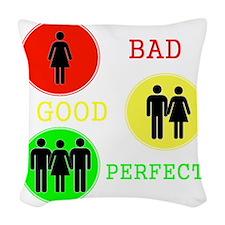 Threesome - MFM Woven Throw Pillow