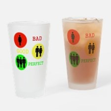 Threesome - MFM Drinking Glass