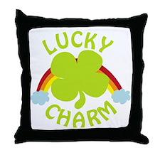 luckycharm_dark Throw Pillow