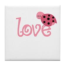 lovebug_dark Tile Coaster