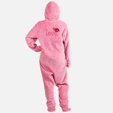 lovebug_dark Footed Pajamas