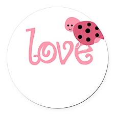 lovebug_dark Round Car Magnet