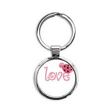 lovebug_dark Round Keychain