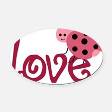 lovebug Oval Car Magnet