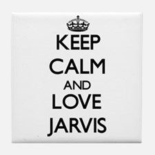 Keep Calm and Love Jarvis Tile Coaster