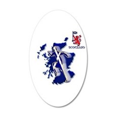Scotland Sprinter Running Wall Sticker