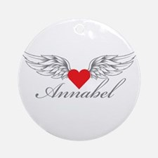 Angel Wings Annabel Ornament (Round)