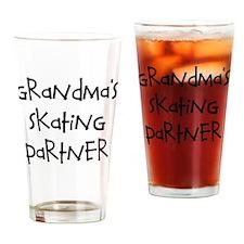 grandmas skating partner Drinking Glass
