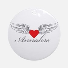 Angel Wings Annalise Ornament (Round)